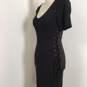 NWOT- Corseted Sides Bodycon Dress